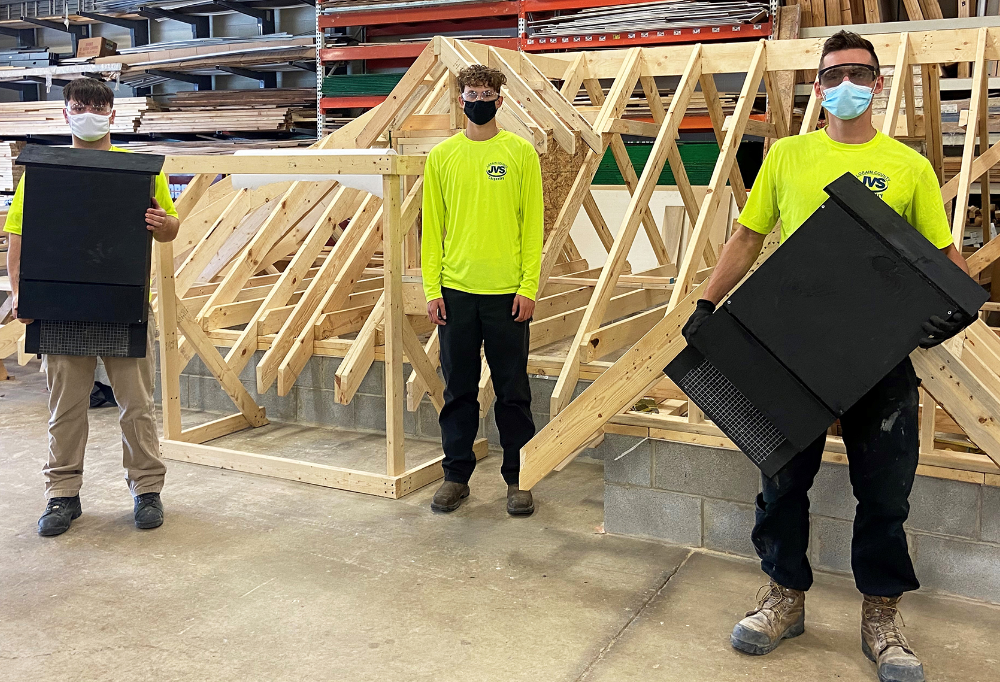 Carpentry Students Build Bat Boxes for Lorain County Metro Parks