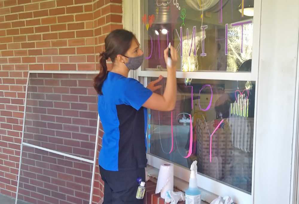 Student Window Art Sparks Joy