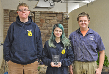 FFA Chapter wins top award at the Zero-Proof Mix Off event