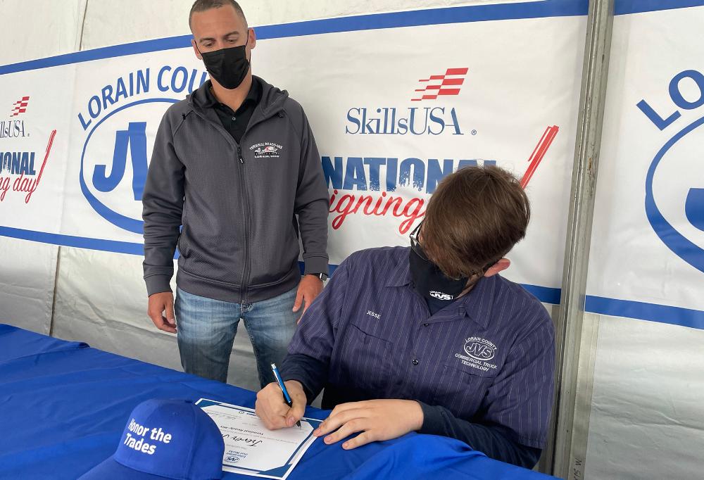 JVS Celebrates 2021 SkillsUSA National Signing Day