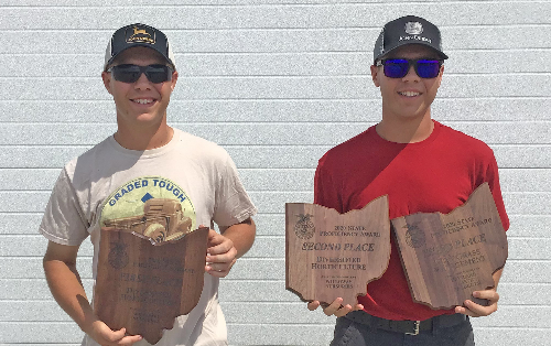 Thomas and William Keller (Midview) proudly smile with their awards