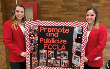 Autumn White-Hupp (Midview) and Maddison Morrow (Amherst) at the Regional FCCLA competition