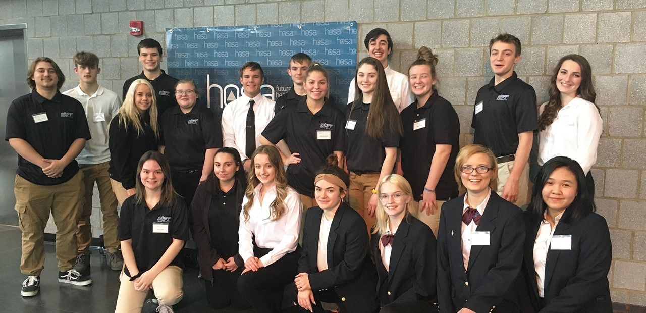 students in the Allied Health Sciences and Sports, Health & Fitness Technology programs at the HOSA Regional Competition