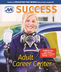 Front Page of Fall 2019 Catalog - Female Auto Body Painter