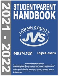 Photo of the cover of the 2021-22 LCJVS Student and Parent Handbook